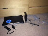 Nintendo Wii Black with Wii Fit Board and accessories!