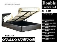 Double LEATHER STORAGE BED FRAME