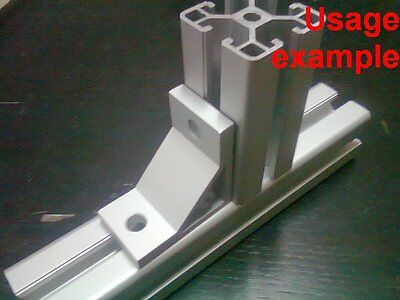 Aluminum T-slot 40x40 Profile 90 Deg Corner Support Connector Bracket 4-set