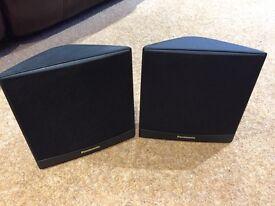 Pair of Panasonic Surround Sound Corner Speakers