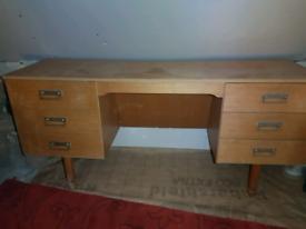 Desk in brown colour