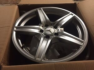 Aluminum rims.  - Mercedes and others. - winter rated