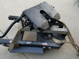 Fifth wheel hitch-Autoslide