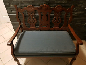 Antique deacons bench