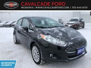 2015 Ford Fiesta (5) Titanium with nav, htd frt leather seats!!
