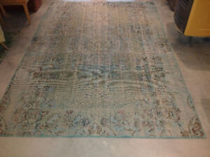 over-dyed oriental carpet