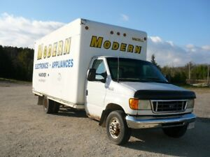 GONE TO NO RESERVES AUCTION: 2003 F350 Cube Van