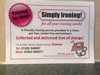 Ironing / laundry service
