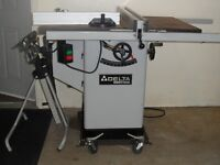 "Delta INDUSTRIAL Tilting 10"" Arbour Table Saw"