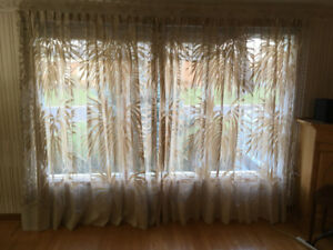 Floor to Ceiling Curtains - freshly washed