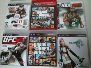 Sony PS3 video game lot of 6 $30