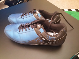Soccer Shoes size 10 almost new- Medium Cleats for Grass or Turf