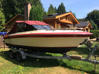 1982 21' Sunrunner with Cuddy and Trailer