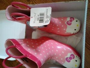 Hello Kitty brand new rubber boots size 12