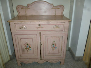 Pink Painted Wash Stand