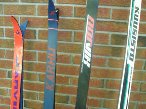Cross Country Skis with SNS Bindings and Salomon Boots Mondo 25