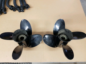 Boat motor prop (right hand pitch is sold, left is available)