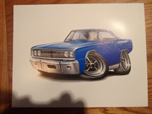 "1967 DODGE CORONET R/T WALL ART PICTURE 11"" X 8.5"""