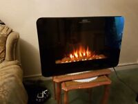Electric fire wall mounted in excellent condition