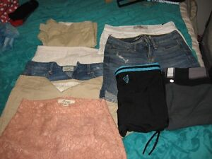 variety of teen name brand clothes