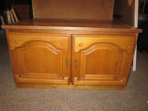 Wood TV Stand With Doors For Sale