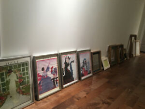 Set of frames, posters, mirrors