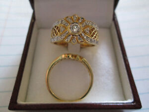 Engagement or dress ring also wedding ring
