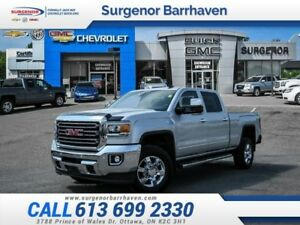 2015 GMC Sierra 2500HD SLT  Crew Cab-4x4-Leather Seats-$377 B/W