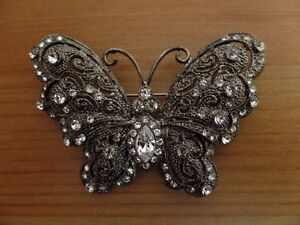 Broche papillon antique