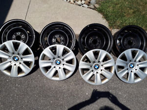 """BMW 16"""" Winter Rims and Hubcaps"""