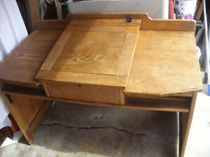 antique oak study desk