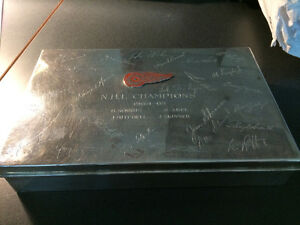 Tiffany Detroit Red Wings 1964-65 NHL Champions cigar box