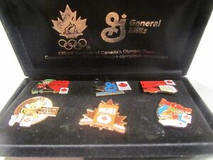 Set of 6 General Mills Official sponor of Canada Olympic Lapel p