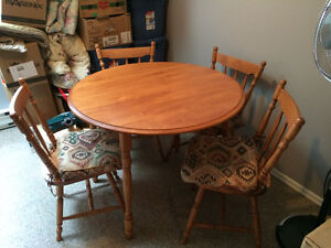 New Oak table and chairs