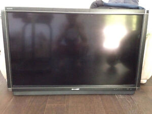 "46"" Sharp Aquos with leather frame in perfect condition $400 obo"