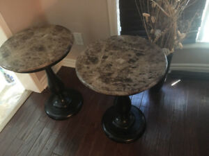 100% genuine Marble Top End Table Set-No scratches!