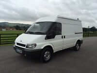 Ford transit 90 t350 mwb medium roof, 2003 (53) reg, 1 former keeper, tested, 114th miles, no vat