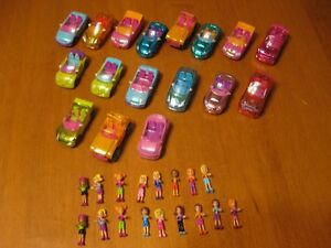 POLLY POCKET VINTAGE MINI CARS WITH MINI DOLLS
