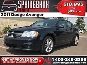 2011 Dodge Avenger $99B/W INSTANT APPROVAL, DRIVE HOME TODAY!