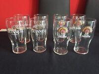 Guinness & John Smiths pint glasses