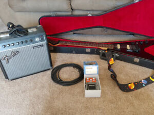 Electric guitar, Amp and Effect pedal