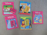 5 Disney books with cassette tapes