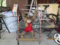 Vintage Hand made flipping monkey toy Works great look Watch Sha