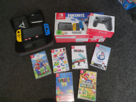 Nintendo Switch plus games and accessories
