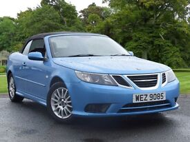 2009 SAAB 9-3 CONVERTIBLE 2.0 TiD 150HP LINEAR UNDER 50K MILES 1 OWNER FSH