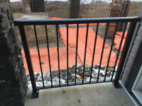 Exterior aluminum railing Hi Quality WELDED sections supply and