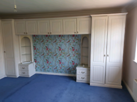 Wrap around Wardrobe and dressing table suite
