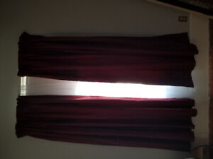 Black out burgandy curtains
