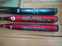 Used Demarini & Miken Slowpitch Bats