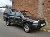 2005 MAZDA B2500 4X4 DOUBLE CAB TURBO DIESEL PICK UP BLACK ONLY 65,000 MILES